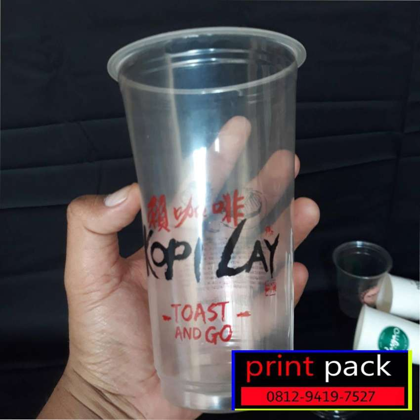 Cup Plastik Sablon 2 Sisi 1 Warna 9