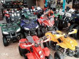 ATV quiad bike 4 wheel in led light 50cc to 250cc available deliver pk