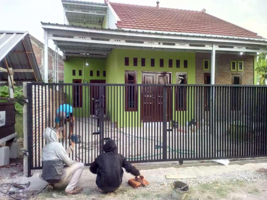 Pagar Rumah Minimalis Besi Holo Galvanis - Konstruksi Dan Taman - 538377487
