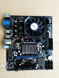 paket mobo amd merk MSI DDR3+proc+ fan hetsink