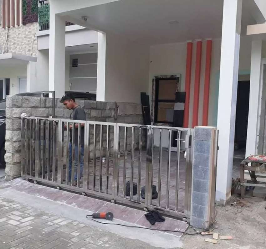 Pagar Stainless Dan Kanopi Kaca 2632 Dekorasi Rumah 823738255