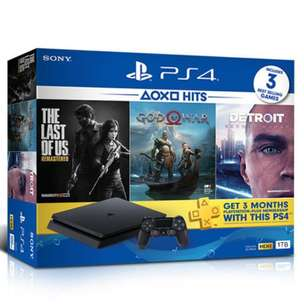 Chas/Credit New PS4 Slim 1TB 3Game