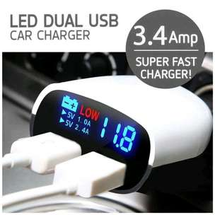 car charger fast charging , cad mobil + led display