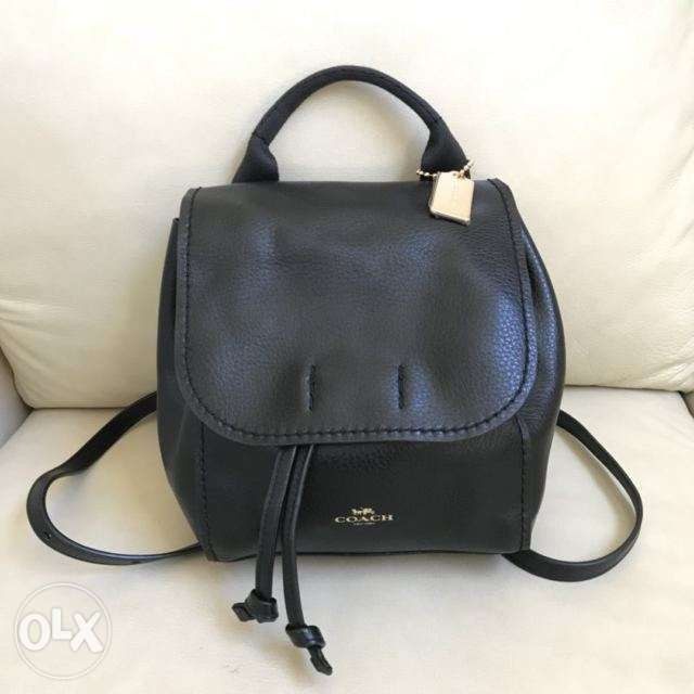 d5f264db2f6d 50% Off Authentic COACH Derby Leather Black Backpack in Parañaque ...