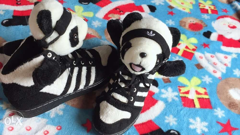 new concept 3cbe0 ceac2 Jeremy Scott x Adidas Panda Bear Original Mens Shoes ...