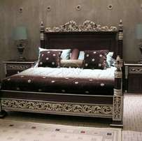 Solid wood Bed set complete one dressing with two side table   for sell