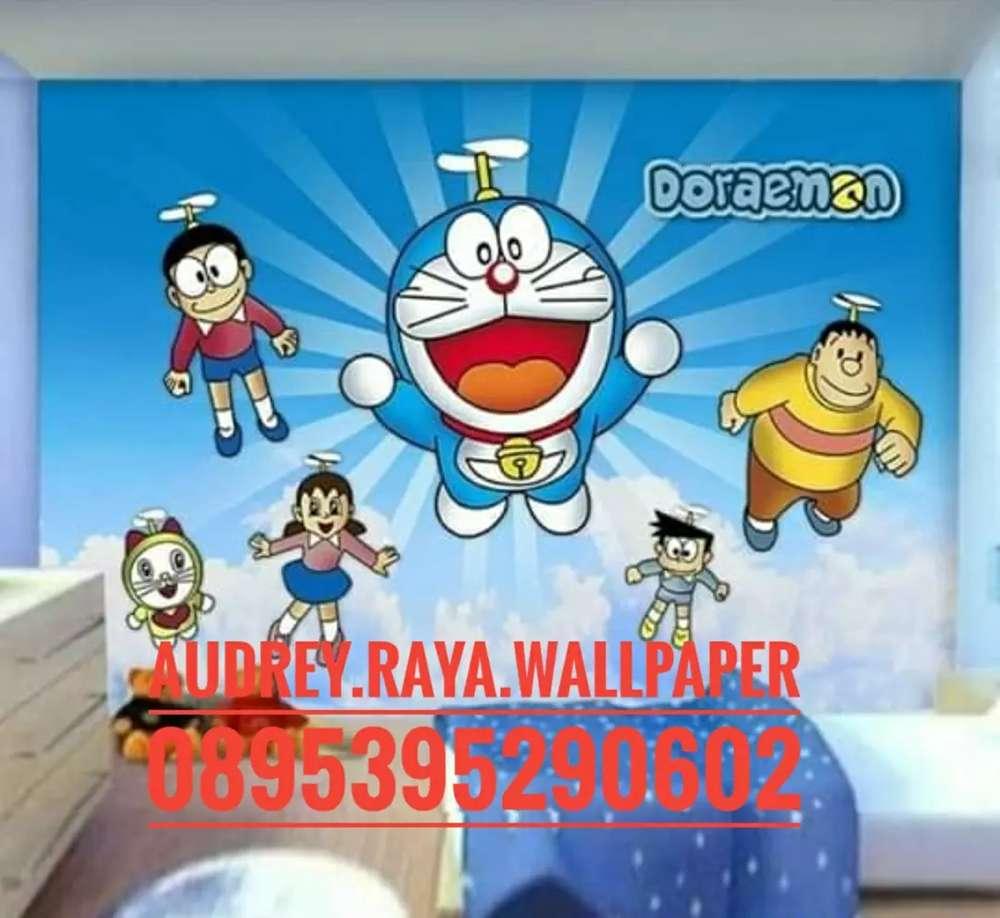 Wallpaper Dinding 3d Doraemon