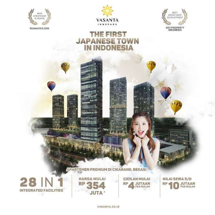 vasanta innopark - the first japanese town in indonesia 1br
