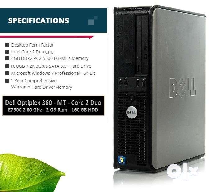 Dell OptiPlex 360 Core2Duo 2 60GHz,2GB Ram,160GB HDD, at