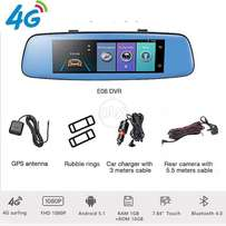 4G DVR Car Rearview Mirror DVR Camera Android 5.1 Dual Lens 1080P Wifi