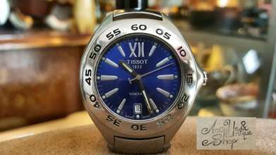 tissot blue dial diver swiss made super ganteng