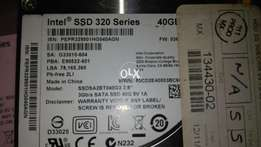 Ssd 40gb intel 320 series 3gbps with checking warranty rs. 1500.