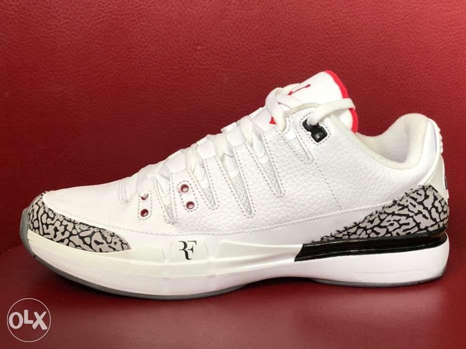960a947c8f20 ... Authentic Nike Vapor AJ3 Roger Federer X Air Jordan 3 Tennis Sneakers  ...