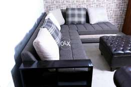 New L shape sofa six seater without Table   imported fabric joot.