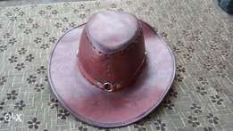 Antique pure leather Hat