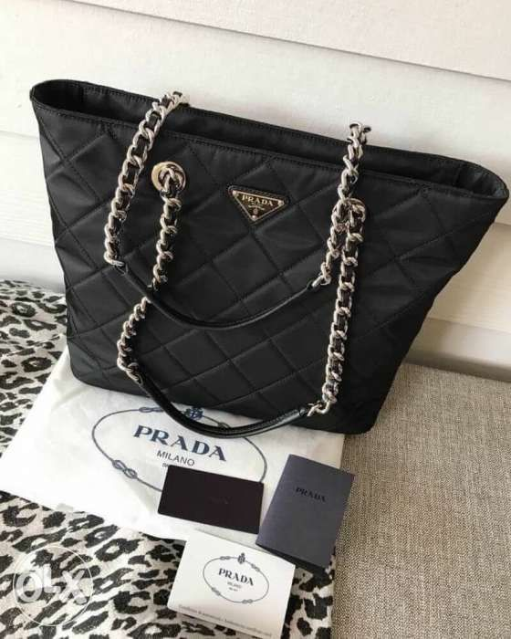 eead6c80b5bd Prada Nylon Quilted Chain Tote in Mandaluyong