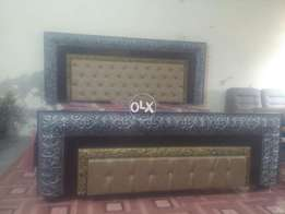 Wooden double bed used