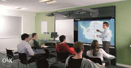 Short Throw Projector and its complete installation package for School