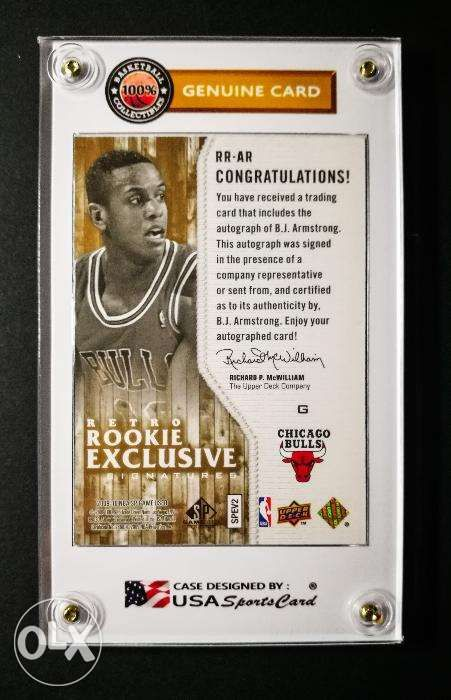 Bj Armstrong Nba All Star Rookie Autograph Basketball Card In