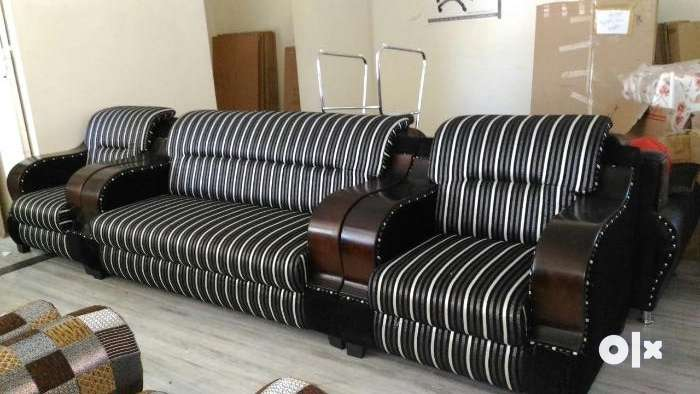 Brand New Wooden Handle Sofa Set At Affordable Price Sofa Dining