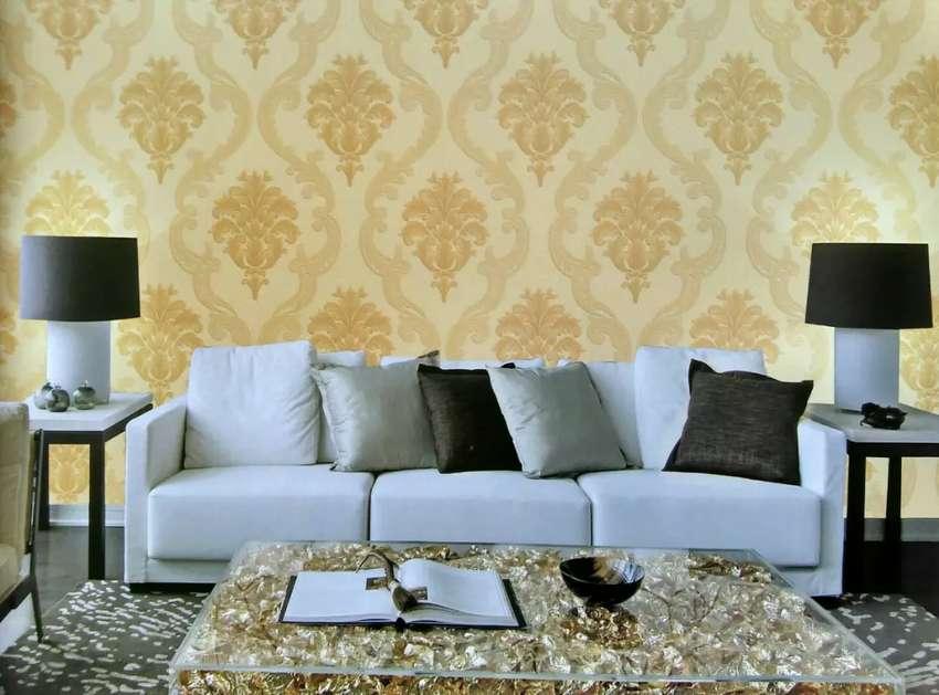 Wallpaper Dinding Motif Batik Ukir 763 Dekorasi Rumah 802060258
