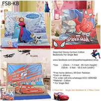 FSB-BS Single bed Pure Cotton Bedsheet with Cartoon Design For Kids