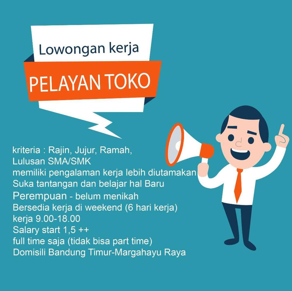 Lowongan Kerja Part Time Di Bandung Lulusan Sma
