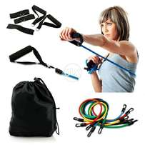 11 Pcs Resistance Band Tube GYM Exercise Set For Yoga Fitness