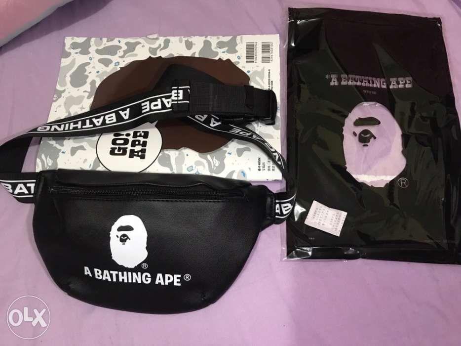 6352ef35ee49 SS19 A BATHING APE Spring Collection BAPE Waistbag jordan adidas in ...