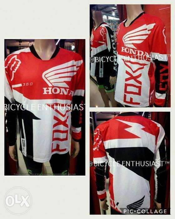 Fs Moto Jersey Fox MX MTB Off Road Mountain Bike DH Bicycle Jersey ... c4d2b1cf4