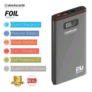 Powerbank Delcell FOIL 10800mAh-Real Capacity Polymer Battre