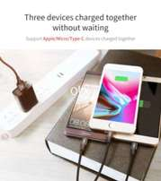 Baseus 3 in 1 3A USB Charger Cable USB TYPE C Cable Micro USB Cable