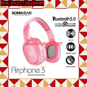 Update Sabtu>Beauty Pink Wireless Headphone Merk Sonic Gear 2019 Kudu