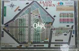 120 yard double story Corner 40 ft road house in saadi town scheme 33