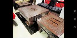 Antique wooden carving bed with sides