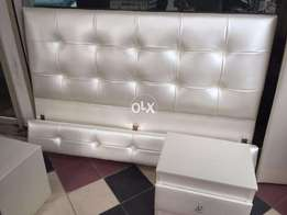 king size bed with two side tables new