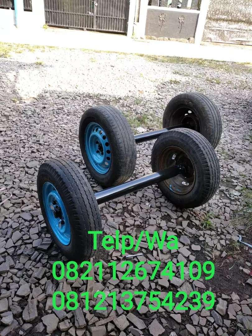 Jual Roda Gerobak Pake As Mobil Perlengkapan Usaha 529049237