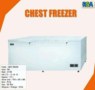New Kulkas Chest Freezer RSA 750liter New Low Watt 285Watt