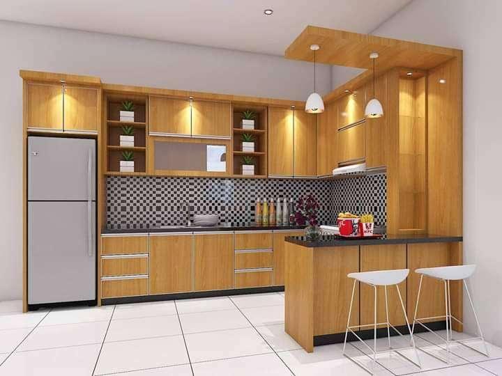 Kitchen Set Minibar Meja Dapur Rak Tangga Lemari Baju Cradenza Dipan Mebel 764562961