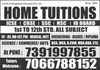 Home Tutor Welcome , All Over Pune