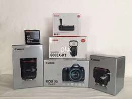 brand new Canon 5d Mark III + EF 24-70mm F2.8L II, EF 85mm f1.2L II +