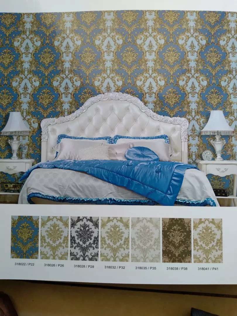Wallpaper Dinding Motif Klasik