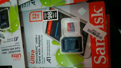 Sandisk Memory 32GB class10 speed 98Mbps