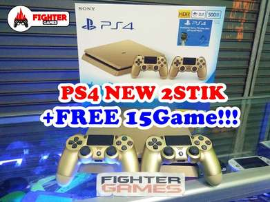 "PS4 SLIM GOLD Edition +Gratis Fulgame ""bisa pilih game sendiri"""