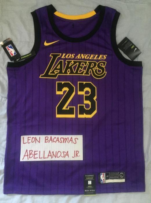 detailed look e2eea fc167 LeBron James #23 - LA LAKERS CITY Nike NBA Swingman Jersey ...