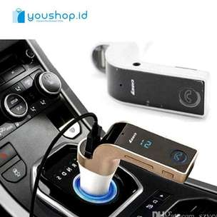 Hands Free 4 in 1 LED Bluetooth Car FM Transmitter MP3 Car Charger- G
