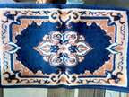 Blue And Brown Floral Area Rug