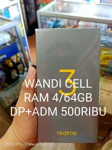 Realme 3 4/64 DP+ADM 500rb Wandi Cell