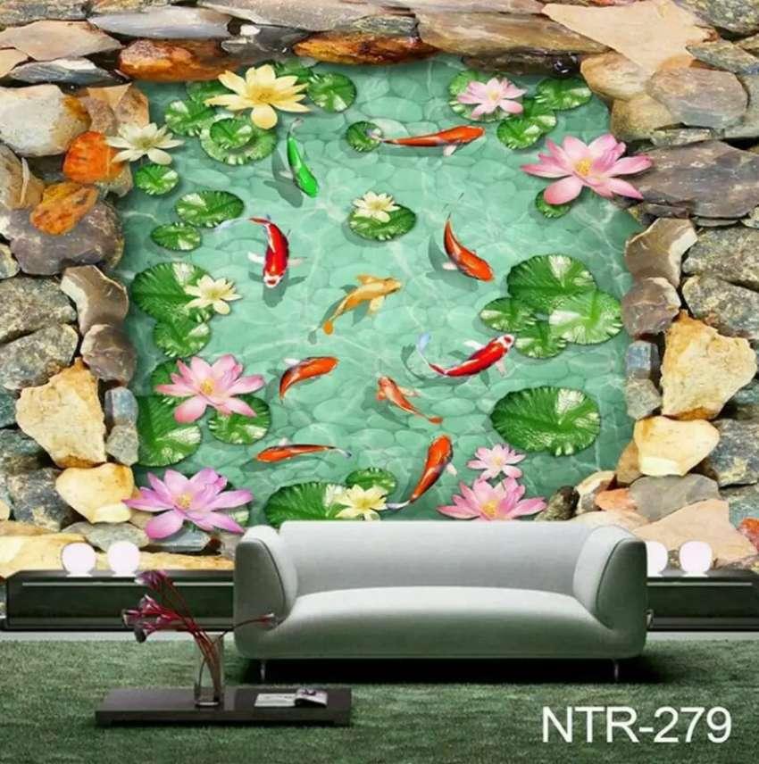 Wallpaper 3d Ikan Koi Dekorasi Rumah 750412901