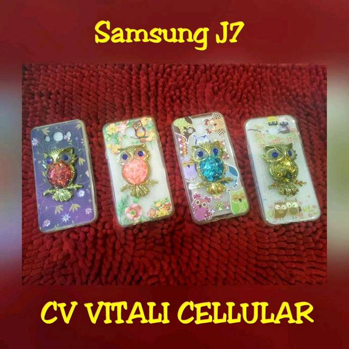 Soft case water gliter owl bird samsung J7
